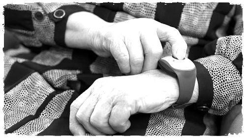 Medical bracelet on wrist